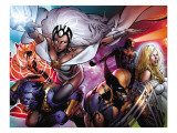 Astonishing X-Men 31 Cover: Storm, Wolverine, Beast, Armor, Emma Frost and Cyclops Print by Phil Jimenez
