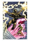 Uncanny X-Men: First Class No.6 Cover: Storm and Phoenix Affiches par Paul Pelletier