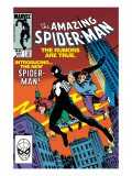 Amazing Spider-Man 252 Cover: Spider-Man Swinging Posters by Ron Frenz