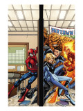 Marvel Adventures Spider-Man 39 Cover: Spider-Man, Fatastic Four Prints by Patrick Scherberger