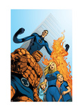 Fantastic Four 570 Cover: Thing, Invisible Woman, Human Torch and Mr. Fantastic Kunstdrucke von Eaglesham Dale