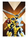 X-Men: First Class 15 Cover: Cyclops, Marvel Girl, Beast, Iceman and Angel Prints by Carlo Pagulayan