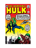 Incredible Hulk No.3 Cover: Hulk, Jones and Rick Poster by Jack Kirby