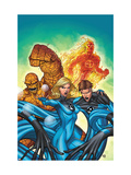 Marvel Adventures Fantastic Four No.48 Cover: Invisible Woman, Mr. Fantastic, Thing and Human Torch Print by Roger Cruz