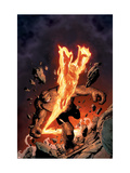 Marvel Knights 4 3 Cover: Human Torch and Thing Poster par MCNiven Steve