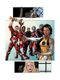 New X-Men: Hellions No.1 Group: Dust, Rockslide, Wither, Mercury and Tag Posters by Henry Clayton