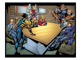 Weapon X 18 Group: Wolverine, Angel, Juggernaut, Professor X, Cyclops and X-Men Affiches par Johnson jeff
