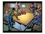 Weapon X No.18 Group: Wolverine, Angel, Juggernaut, Professor X, Cyclops and X-Men Prints by jeff Johnson