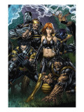 Ultimatum 5 Cover: Grey, Jean, Beast, Wolverine, Cyclops, Colossus, Storm and Nightcrawler Posters by David Finch