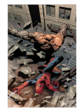 Marvel Knights Spider-Man No.15 Cover: Spider-Man and Crusher Creel Fighting Poster von Tan Billy