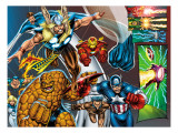 Onslaught Reborn No.5 Group: Thor, Thing, Captain America and Iron Man Prints by Liefeld Rob