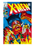 X-Men No.51 Cover: Erik The Red, Cyclops, Angel, Iceman and X-Men Posters by Arnold Drake