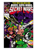 Secret Wars No.6 Cover: Dr. Doom, Absorbing Man, Lizard, Doctor Octopus, Wrecker and Ultron Prints by Mike Zeck