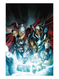 Secret Invasion: Thor 3 Cover: Thor and Beta-Ray Bill Posters by Doug Braithwaite