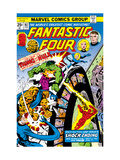 Fantastic Four N167 Cover: Hulk, Thing, Mr. Fantastic, Invisible Woman and Human Torch Fighting Pósters por George Perez