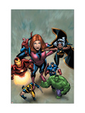 Marvel Adventures The Avengers 21 Cover: Hulk Print by Kirk Leonard