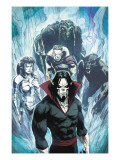Marvel Zombies 3 No.4 Group: Morbius, Man-Thing, Werewolf By Night, Hellstrom and Daimon Prints by Kev Walker