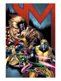 Exiles No.69 Cover: Sabretooth, Blink, Mimic, Morph and Exiles Posters by Pelletier Paul