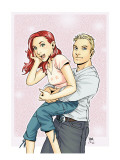 Mary Jane 3 Cover: Watson, Mary Jane, Thompson and Flash Print by Miyazawa Takeshi