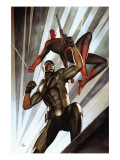 The Amazing Spider-Man No.609 Cover: Spider-Man and Damon Ryder Prints by Granov Adi