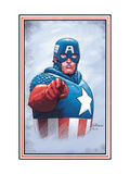 The New Invaders No.0 Cover: Captain America Prints by Epting Steve