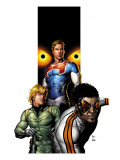 Supreme Power 6 Cover: Hyperion, Blur, Ledger and Joe Prints by Frank Gary
