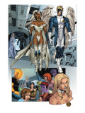 X-Men: Manifest Destiny 2 Group: Storm, Angel and Emma Frost Print by Michael Ryan