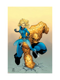 Tales Of The Thing No.3 Cover: Thing and Invisible Woman Kunstdrucke von Green Randy