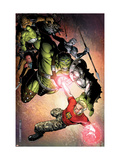 Avengers: The Initiative No.4 Cover: Hulk and Hardball Poster by Jim Cheung