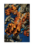 Ultimate Fantastic Four N19 Cover: Thing Smashing Prints