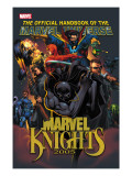 The Official Handbook Of The Marvel Universe: Marvel Knights 2005 Cover: Black Panther Print by Pat Lee