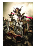 X-Men No.231 Cover: Wolverine, Colossus, Psylocke and Cyclops Prints by Adi Granov