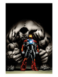 Ultimate Human 4 Cover: Iron Man and Hulk Poster von Nord Cary
