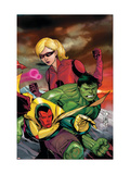 The Mighty Avengers 23 Cover: Vision, Hulk and Stature Prints by Pham Khoi