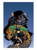 Excalibur No.8 Cover: Callisto, Magneto, x-23, omega sentinel and Excalibur Prints by Lopresti Aaron