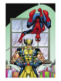 Marvel Holiday Special 2007 No.1 Cover: Spider-Man and Wolverine Art by Ron Lim