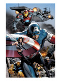 Ultimate Power No.6 Group: Captain America, Wasp, Iron Man, Thing, Quicksilver and Shadowcat Prints by Greg Land