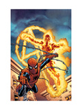 Fantastic Four No.512 Cover: Human Torch and Spider-Man Prints by Mike Wieringo