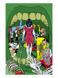 X-Statix 18 Cover: Deadgirl, Mr. Sensitive, Venus de Milo and X-Statix Affiches par Michael Allred