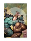 Incredible Hulk No.602 Cover: Skaar and Juggernaut Posters by Ariel Olivetti