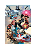 Ultimate Fantastic Four No.26 Group: Captain America, Wasp, Iron Man, Thor, Spider-Man and Ant-Man Prints by Land Greg