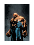 Marvel Knights 4 #6 Cover: Thing, Storm and Sue Arte por Steve MCNiven