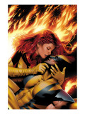 X-Men: Phoenix - End Song 3 Cover: Phoenix and Wolverine Print by Land Greg