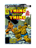 Marvel Two-In-One No.50 Cover: Thing Fighting Arte por Byrne John