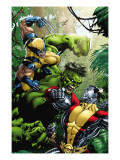 X-Men Vs Hulk No.1 Cover: Wolverine, Colossus and Hulk Prints by Yardin David