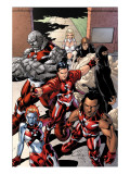 New X-Men: Hellions No.1 Group: Dust, Rockslide, Wither, Mercury and Tag Pôsters por Henry Clayton
