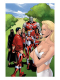 New X-Men: Hellions No.4 Group: Dust, Mercury, Hellion, Rockslide, Tag, Emma Frost Posters by Henry Clayton
