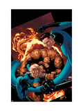 Marvel Knights 4 20 Cover: Mr. Fantastic, Invisible Woman, Human Torch, Thing and Fantastic Four Posters by De Landro Valentine