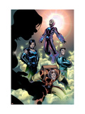 Marvel Handbook: Teams 2005 Cover: Cole, Hydro-Man, Salamandra, Wizard and Frightful Four Flying Posters by Paco Medina