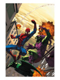 Marvel Age Spider-Man 16 Cover: Spider-Man and Green Goblin Art by Roger Cruz